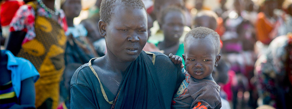 Mother and child in South Sudan