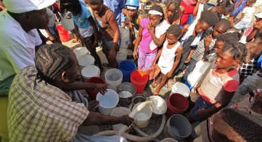 Action Against Hunger water programs in Haiti.