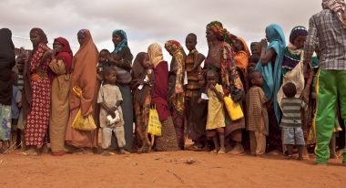Somali refugees queue in Ethiopia's Dollo Ado camp. ACF-Ethiopia, S. Hauenstein-