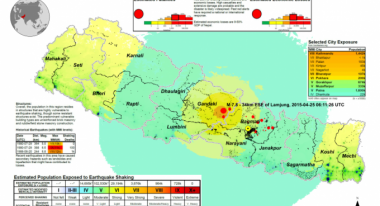 Nepal: Estimated Population Exposed to Earthquake (as of 25 April 2015) (Map via unocha.org)