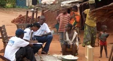 Our teams assess and respond to needs of families in the CAR. Photo: ACF-CAR, B. Cichon
