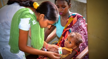 Photo: Action Against Hunger's health and nutrition programs in Bangladesh screen and provide therapeutic treatment to severely malnourished children.