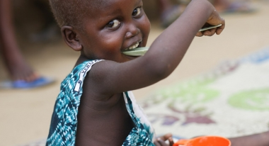 We're working to improve nutrition for children around the world. Photo: ACF-Liberia, V. Burger