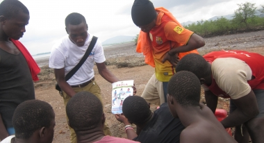Community Sensitization in Sierra Leone. Credit: Isotta Pivato for Action Against Hunger