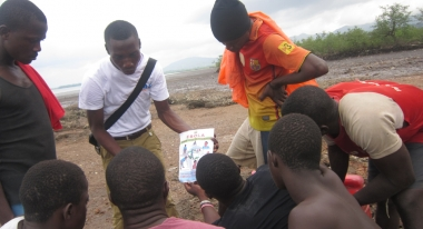 Community Sensitization in Sierra Leone. Credit Isotta Pivato, Action Against Hunger
