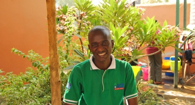 Kumi first encountered Action Against Hunger as a refugee in Uganda. Credit: Whitney Smith for Action Against Hunger