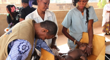 A child receiving nutrition treatment from ACF in Bamako, Mali. Photo: ACF-Mali, L. Grosjean