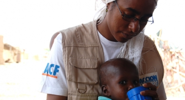 A boy in Mauritania receives treatment for malnutrition. Photo: ACF-Mauritania, A. Garcia.