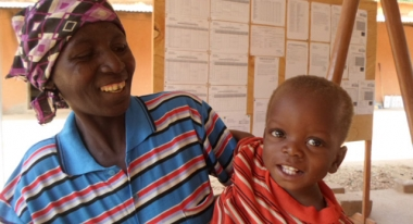 Soampa and his mother. Photo: ACF-Burkina Faso, V. Vancura