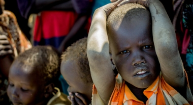 A young boy in Man-anguei Camp in Warrap state, South Sudan. Photo: © 2015 Andrew Parsons / i-Images for Action Against Hunger