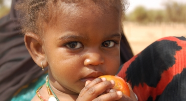 Food aid is imperative for children like this Mauritanian girl.