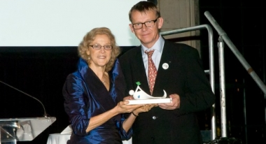 Hans Rosling and ACF-USA CEO Nan Dale at the Annual Gala. Credit: Steven Norcix
