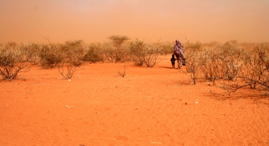 Abdifalah and her grandmother must walk hours to get water in Kenya.  Photo: ACF