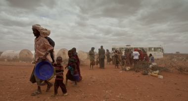 A Somali family arrives at Dollo Ado Camp, Ethiopia. Photo: S. Hauenstein-Swan.