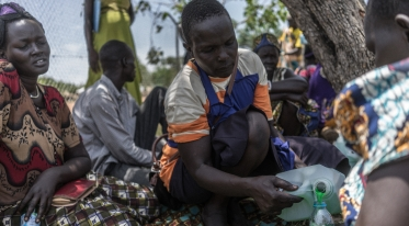 Supported by Action Against Hunger, mothers from South Sudan who are now refugees learn to make and sell soap to generate income. Photo: Guy Calaf for Action Against Hunger, Uganda