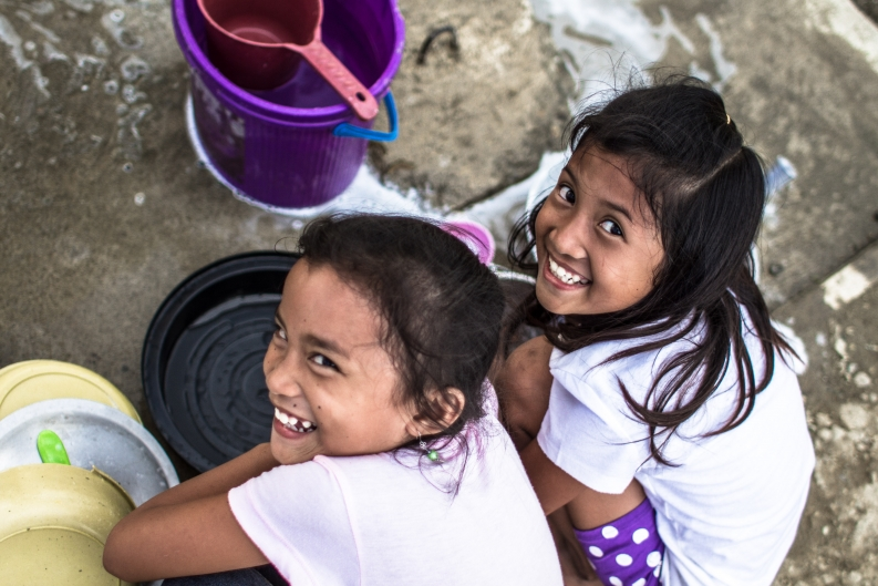 The future is looking brighter for these girls in Tacloban and thousands more like them. Photo: ACF-Philippines, D. Burgui