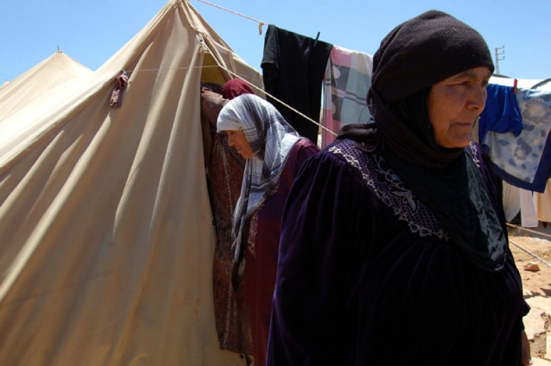Refugees like these women face tough times ahead as winter approaches. Photo: ACF-Lebanon, L. Jiminez
