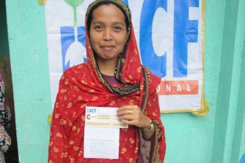 Visa's cash transfer initiatives, like this one in the Philippines, helps speed up recover after a disaster. ACF-Philippines