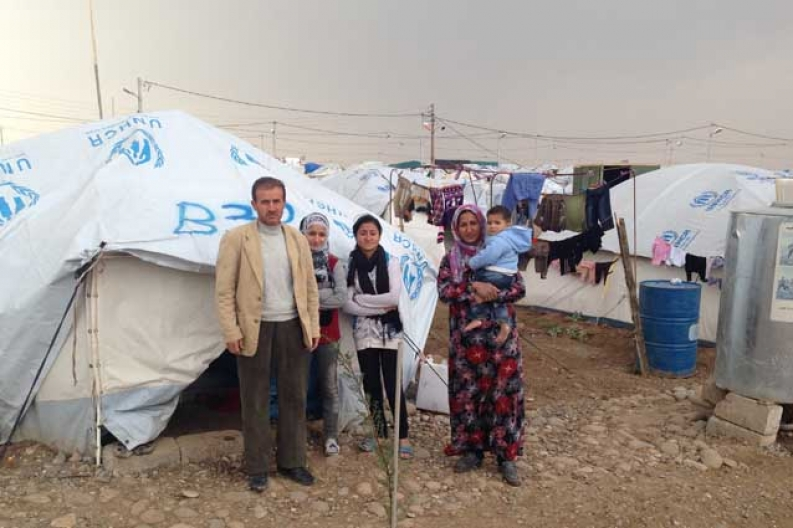 Refugees of the Syrian crisis at a camp in Iraqi-Kurdistan. Photo: ACF-International, B. Allen