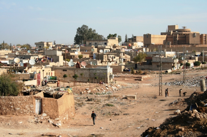 A town in Syria damaged by conflict. Photo: B. Riesco, ACF-Syria.