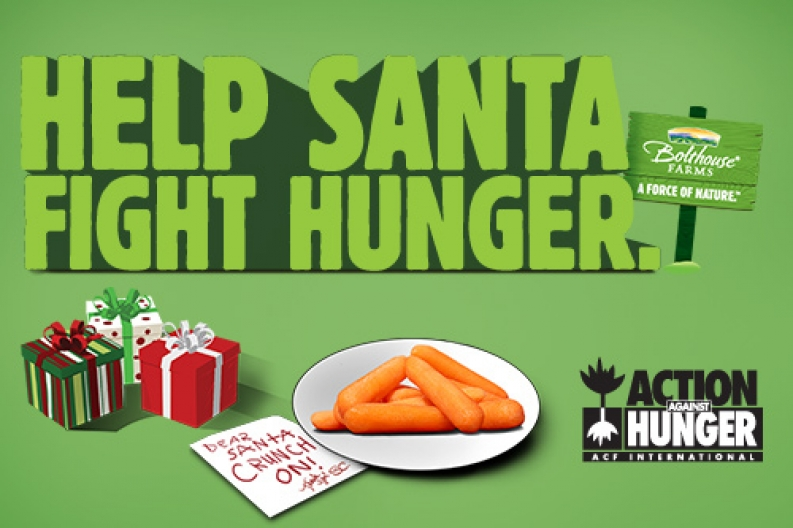 help santa fight hunger