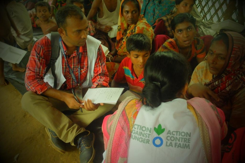 As part of our emergency humanitarian response, Action Against Hunger provides psychosocial support to refugees from Myanmar. Photo: Action Against Hunger, Bangladesh
