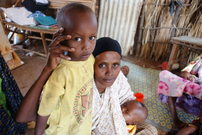 Fatima with her son, Abdi