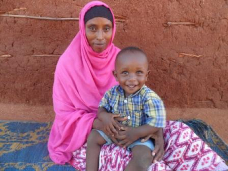 Halima's young son Jirma benefitted from exclusive breastfeeding. Photo: A. Isaac, ACF-Kenya