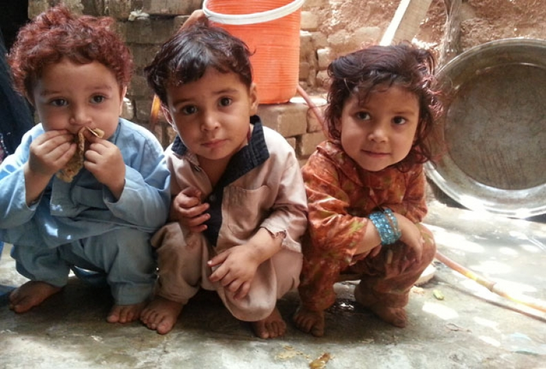 A few of the children that are receiving our lifesaving services in Pakistan. Credit: A. Saboor