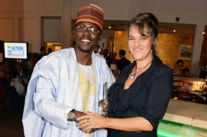 Ibrahim Muhammad with UK-based artist and host Tracey Ermin. Photo: Dave Benett