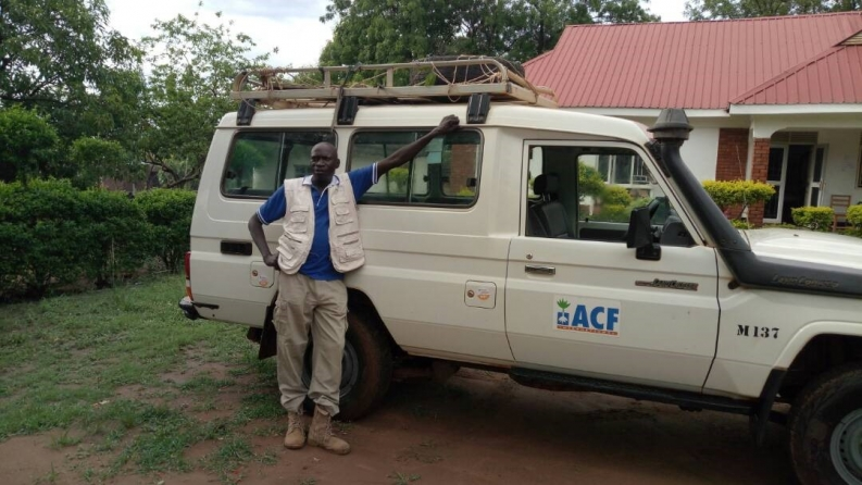 As Head Driver, James Brown is one of the engines behind our emergency operations in Uganda. Photo: Action Against Hunger