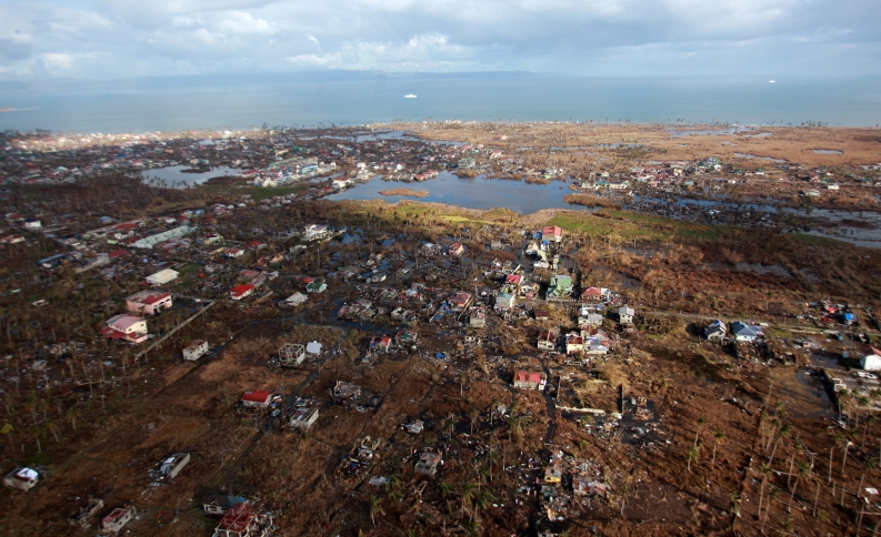 The devastated farmland and coastline near Tacloban. Photo: ACF-Philippines, J. Maitem