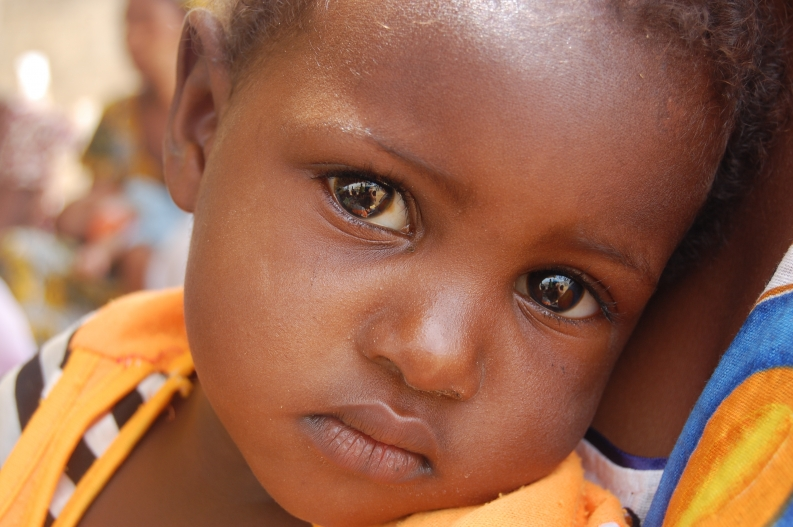 Children like this little Mauritanian girl are at risk of malnutrition.