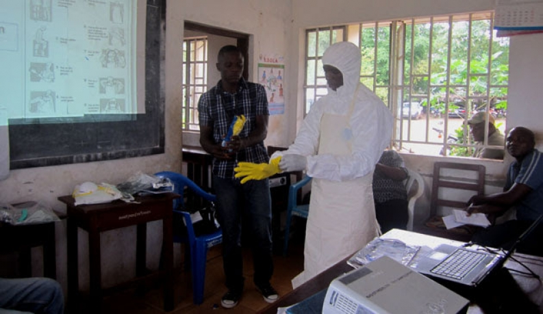 Ebola prevention activities in Liberia. Photo: ACF-France