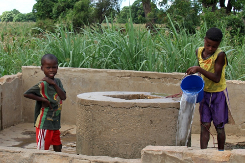 Children retrieve water from a well in Madagascar. Photo: ACF-Madagascar, L. Grosjean