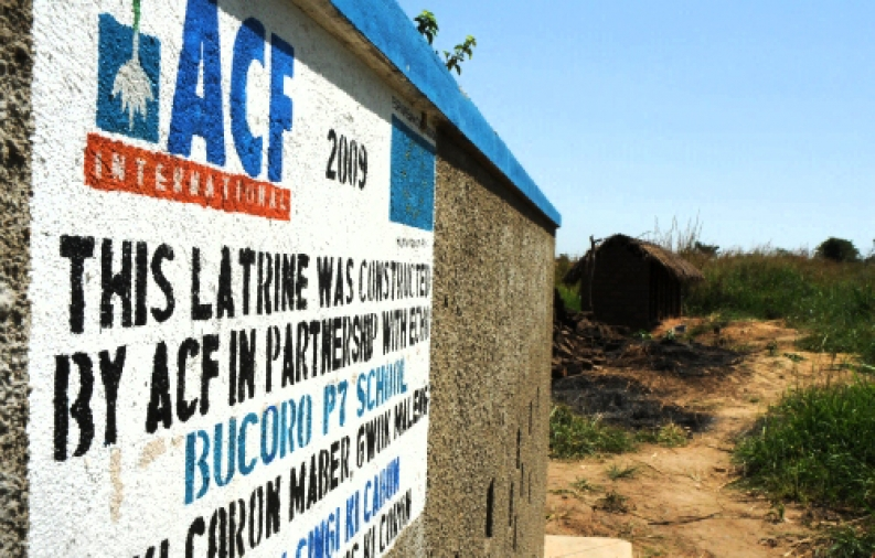 ACF builds latrines and promotes hygiene for effective sanitation.