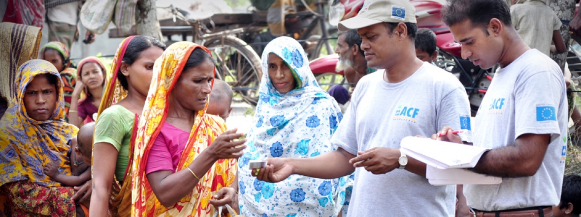 Action Against Hunger provides emergency relief for women in Bangladesh after a flood.