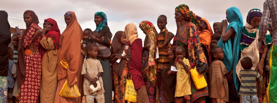 Refugees in Ethiopia receive support during the Horn of Africa crisis.