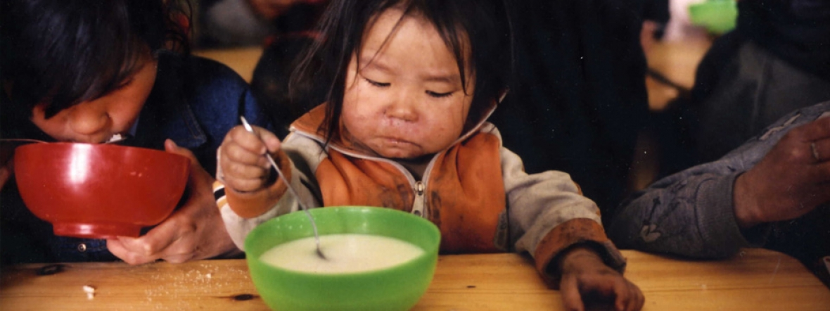 Action Against Hunger provides nutritious meals for children in Mongolia.