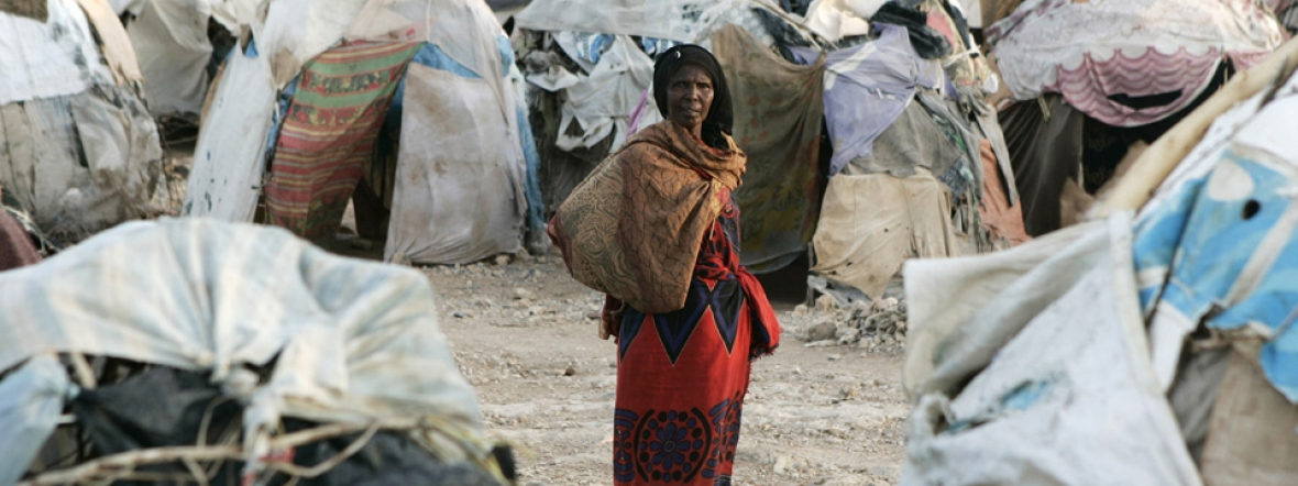This woman and millions of others in Somalia have been displaced by conflict.