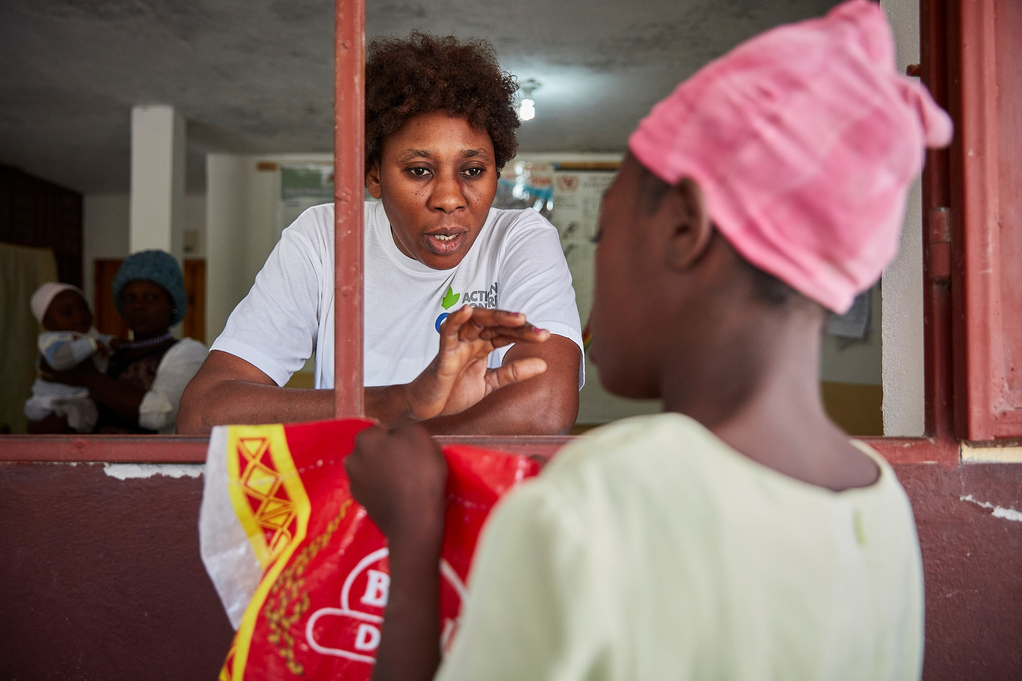 Jenite Forrelus, a nurse and health education specialist, leads community nutrition trainings, specializing in improving care and feeding practices among mothers of children from 6 to 23 months.