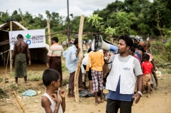 Action Against Hunger is distributing food, water, and essential relief items to Myanmar refugees in Bangladesh's Balukhali refugee camp. Photo: Action Against Hunger, Bangladesh.