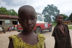 Photo: Constantine after receiving treatment in Kahemba. Action Against Hunger, Democratic Republic of Congo