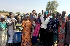 Action Against Hunger CEO Andrea Tamburini visits a community in Northern Bahr el Ghazal, South Sudan.