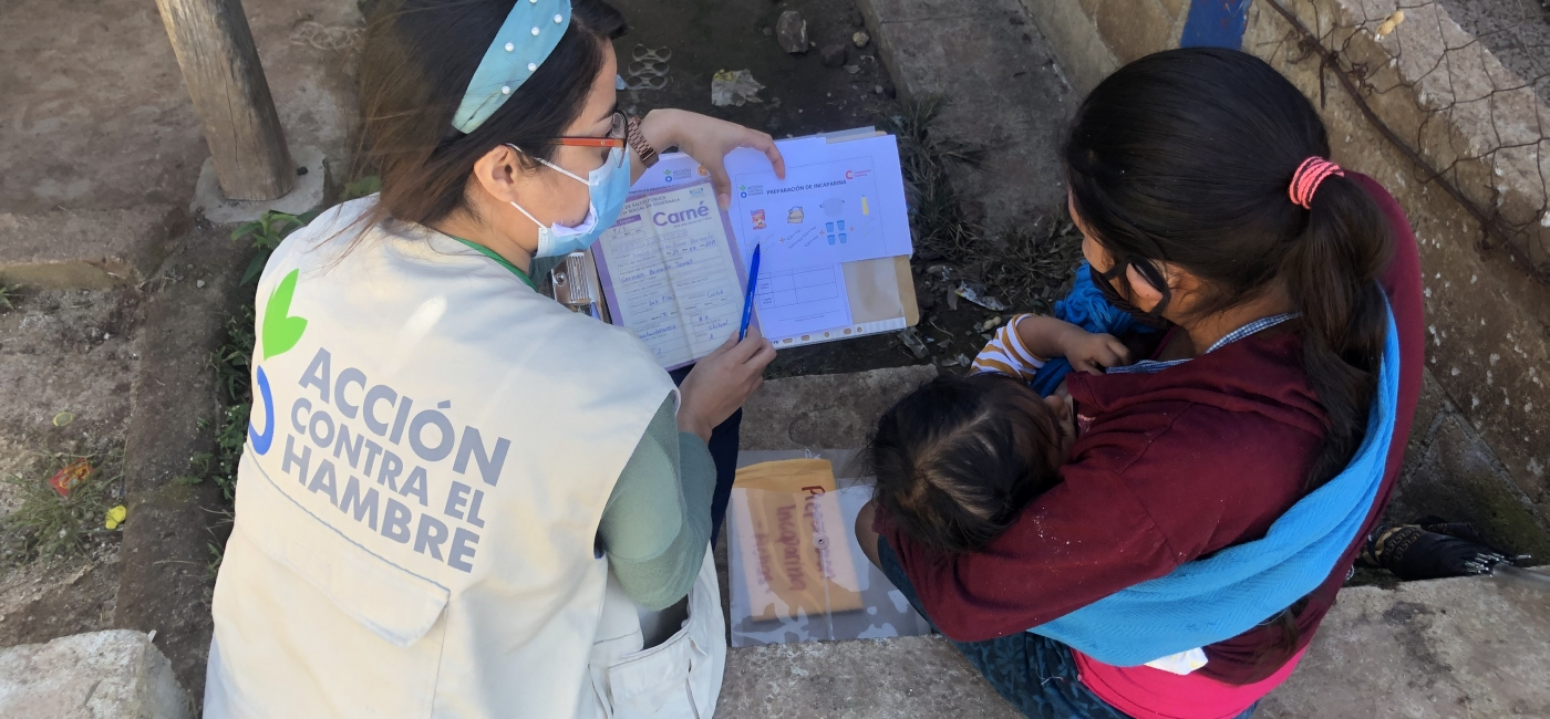 In the Dry Corridor areas of Guatemala, Action Against Hunger staff work with rural communities to improve food security and nutrition.