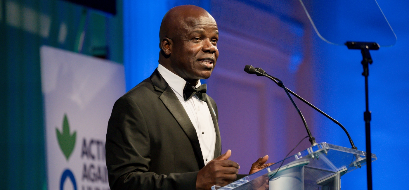 Dr. Charles Owubah, CEO, inspired Gala guests to band together against hunger.