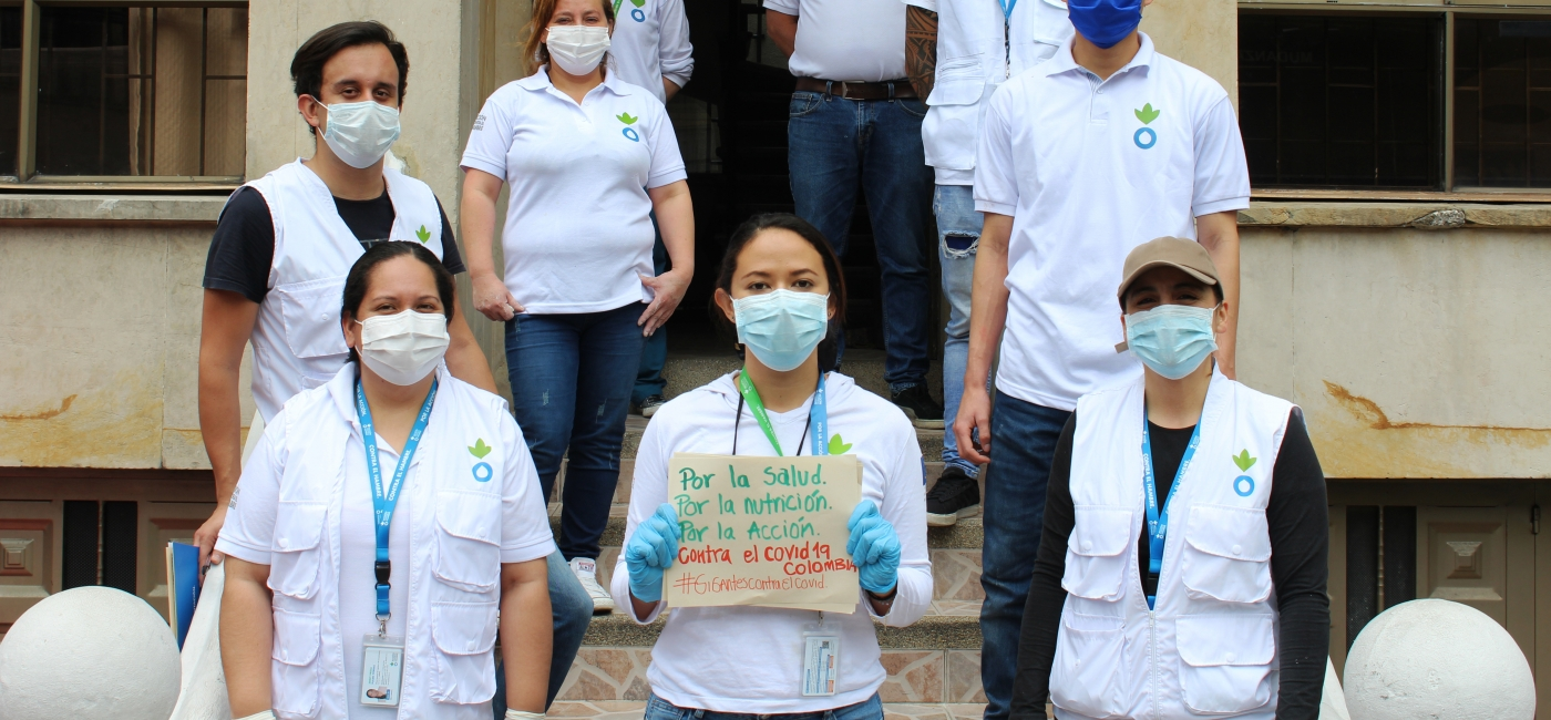 Action Against Hunger staff in Colombia