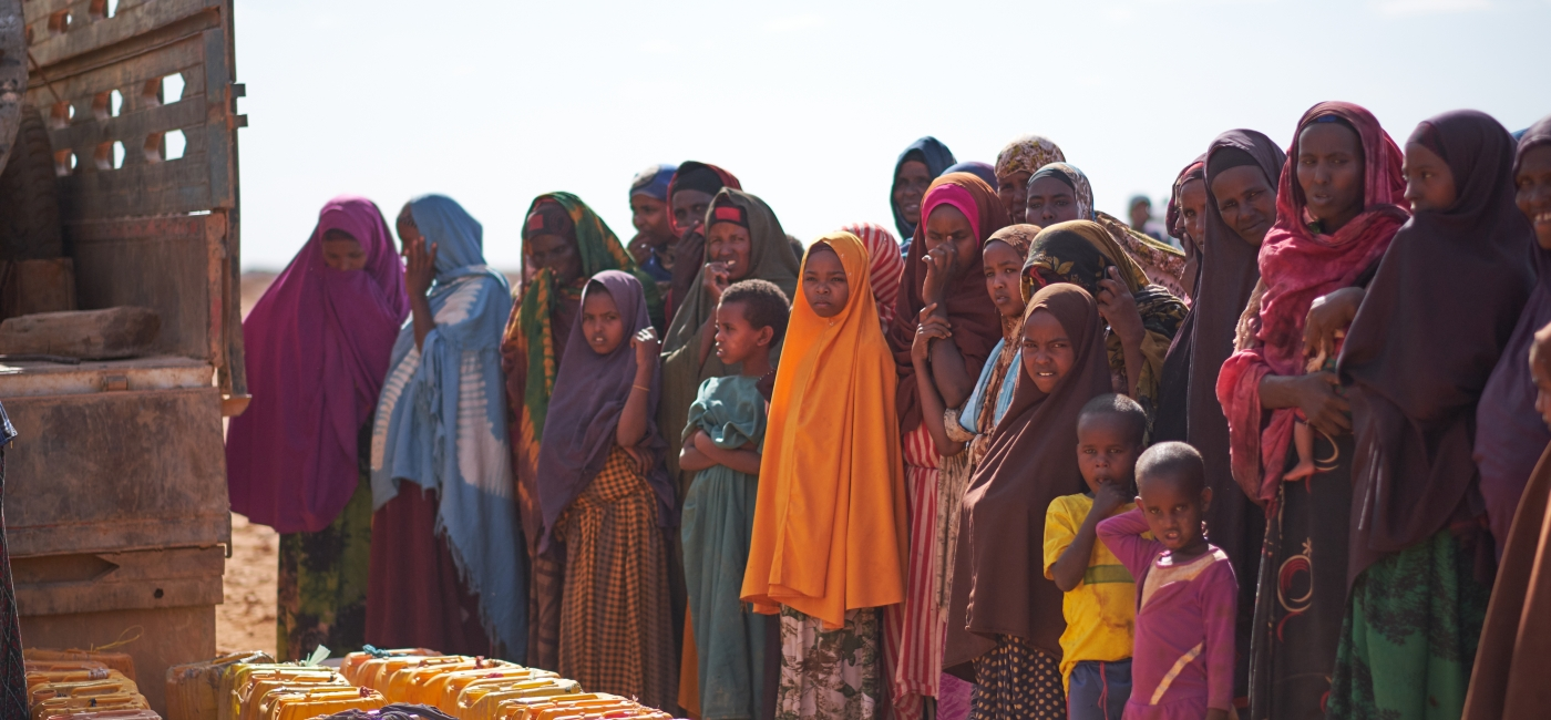 Action Against Hunger delivers water to the drought-stricken region of Bakool, Somalia.
