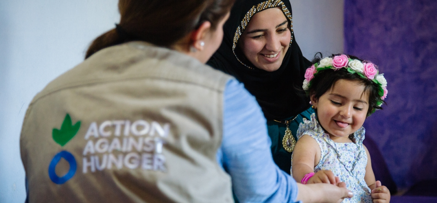 Action Against Hunger provides psychological counselling to displaced families in Iraq.