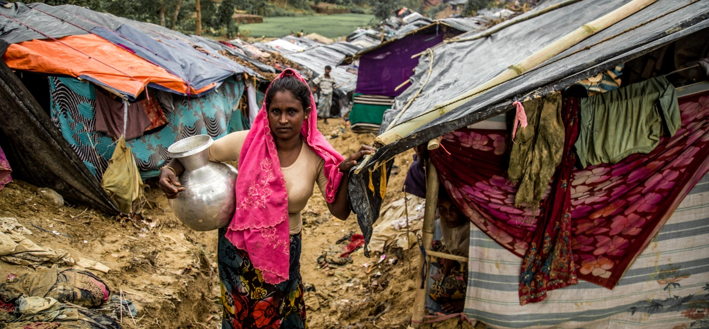 COVID-19 has begun to spread in the crowded displacement camps in Cox's Bazar, Bangladesh, where hundreds of thousands of Rohingya people have sought refuge.